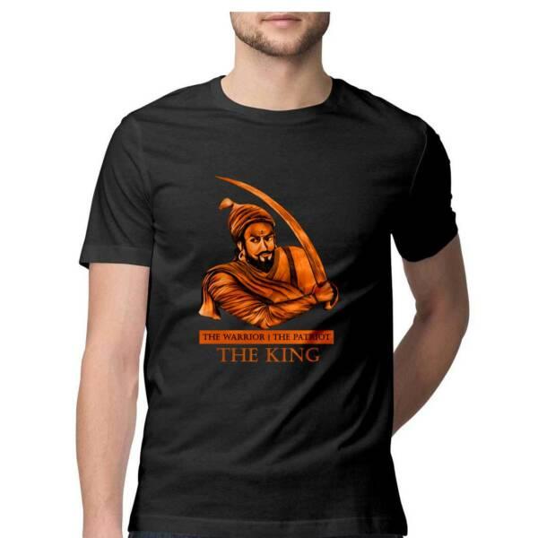 shivaji maharaj print t shirt
