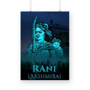 Rani Lakshmibai A3 No frame Poster