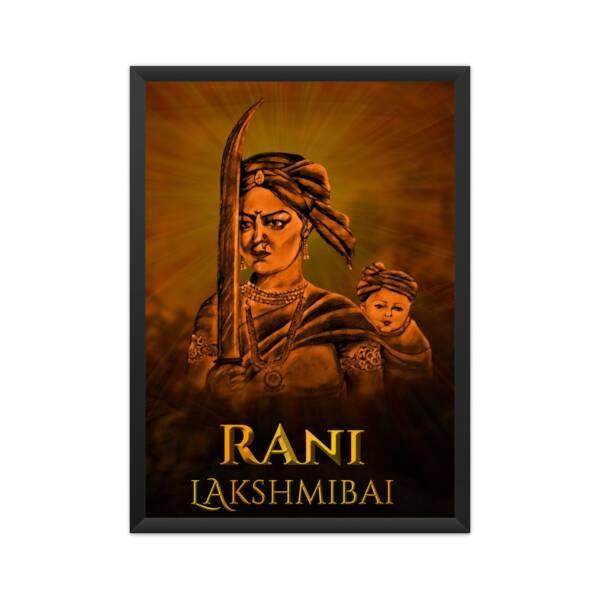 rani lakshmibai poster A4 Framed