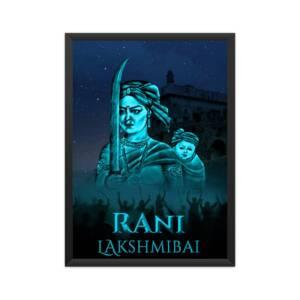 Rani Laksmibai A4 Poster Framed